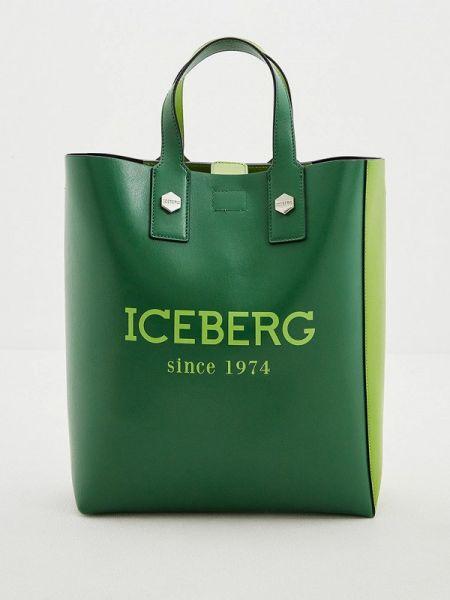 Кожаная сумка с ручками весенний Iceberg