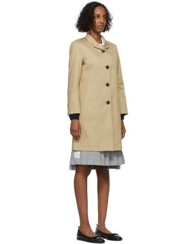 Черное длинное пальто Thom Browne