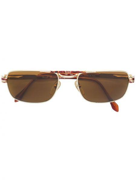 Прямые солнцезащитные очки металлические хаки с завязками Persol Pre-owned