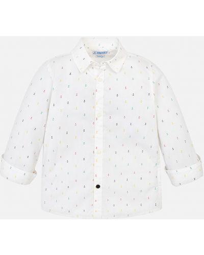 Рубашка с узором бежевый Mayoral