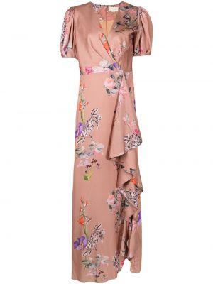 Różowa sukienka mini z printem Sachin & Babi