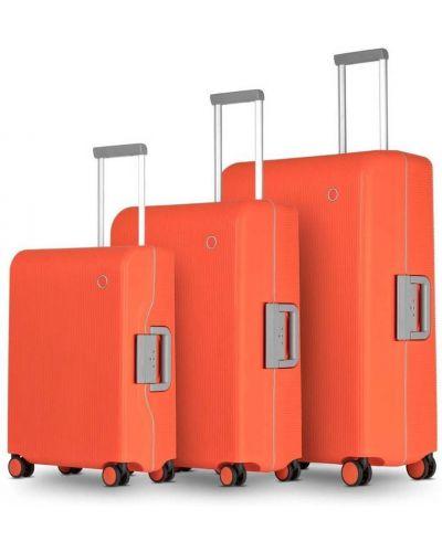 Zestaw walizek - pomarańczowa Echolac