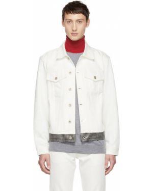 Белая джинсовая куртка на пуговицах с манжетами прозрачная Band Of Outsiders