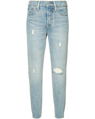 Укороченные джинсы рваные Levi's®