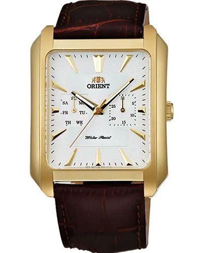 Часы водонепроницаемые с кожаным ремешком Orient