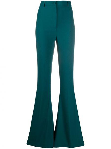 Расклешенные брюки с поясом с высокой посадкой на молнии Hebe Studio