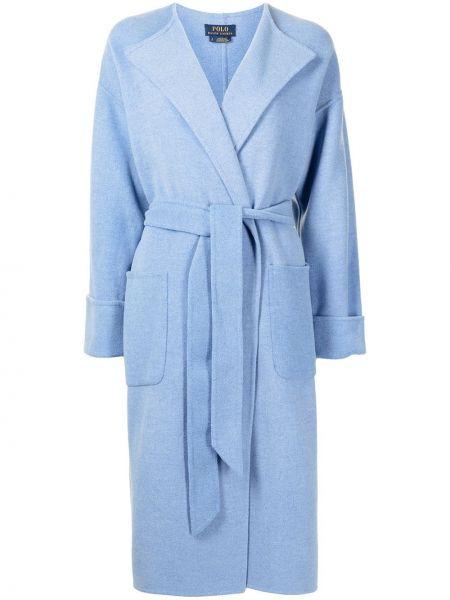 Синее пальто кардиган Polo Ralph Lauren