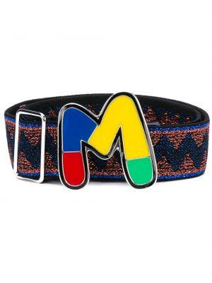 Темно-синий ремень металлический с пряжкой с поясом M Missoni