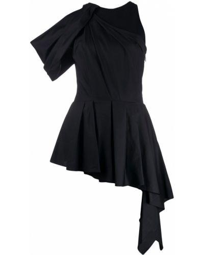 Черная блузка с вырезом круглая Alexander Mcqueen
