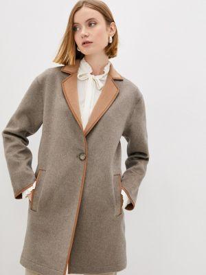 Коричневое пальто осеннее Falconeri