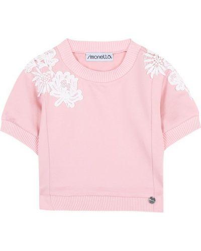 Топ кружевной розовый Simonetta