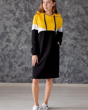 Платье с капюшоном со вставками Lika Dress