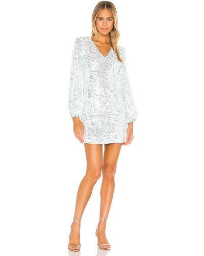 Серебряное платье с подкладкой на молнии Saylor