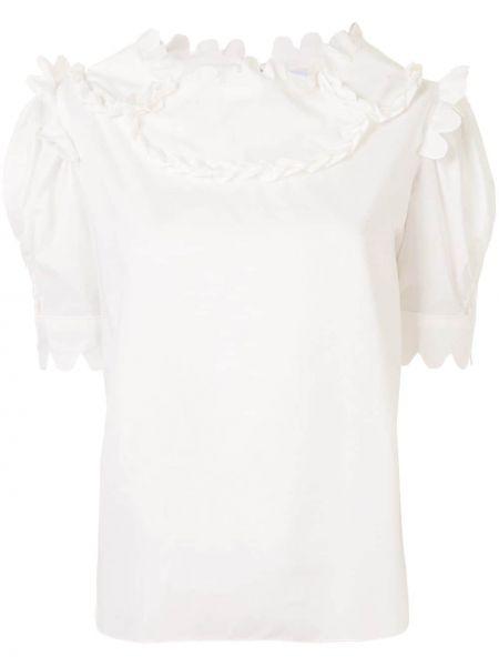 Biała bluzka krótki rękaw bawełniana Horror Vacui