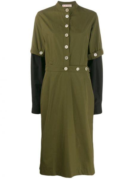 Платье миди на пуговицах милитари Marni