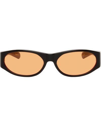 Czarne okulary skorzane Flatlist Eyewear