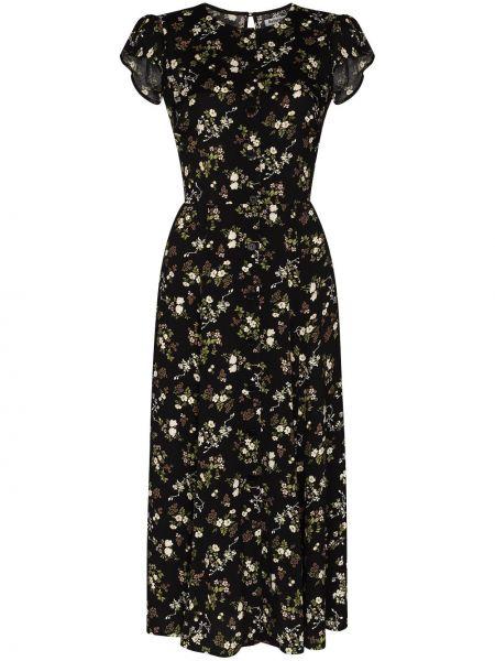 Черное платье миди Reformation