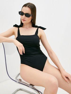 Черный слитный купальник Delice
