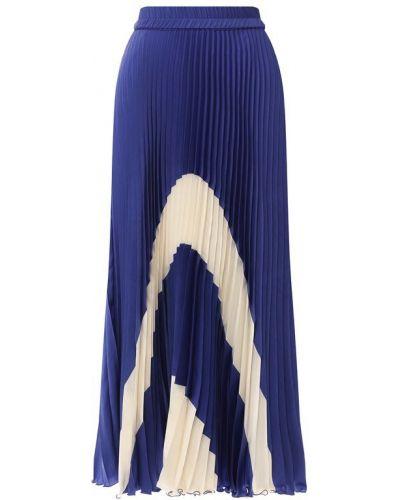 Плиссированная юбка из вискозы Poustovit
