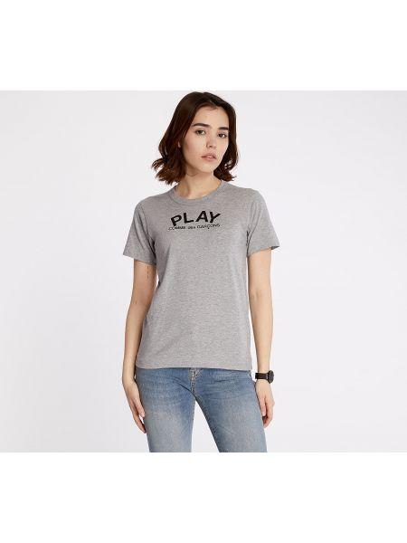 Szary t-shirt Comme Des Garcons Play