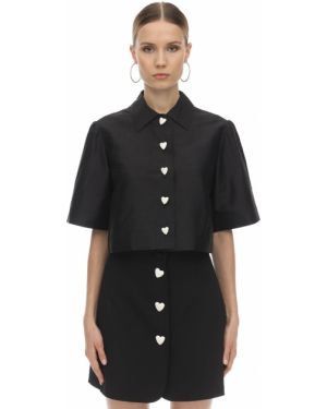 Сатиновая рубашка с воротником на кнопках George Keburia