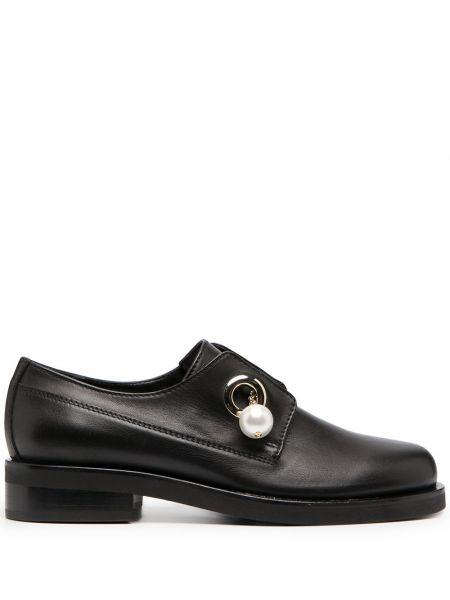 Czarny loafers metal okrągły okrągły nos Coliac