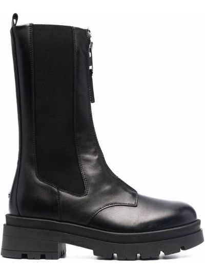Черные ботинки на каблуке Anine Bing