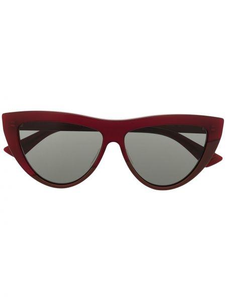 Золотистые красные солнцезащитные очки Bottega Veneta Eyewear