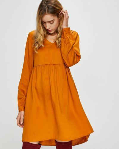 Платье мини с V-образным вырезом с длинными рукавами Vero Moda