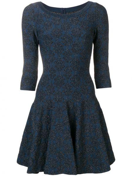 Расклешенное приталенное платье винтажное с вырезом Alaïa Pre-owned