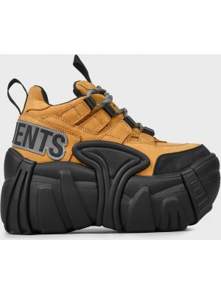 Кожаные кроссовки - бежевые Vetements
