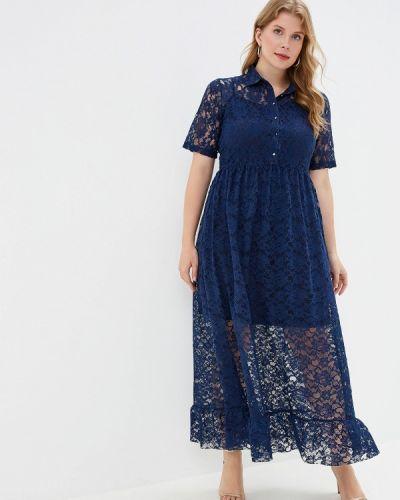 Вечернее платье осеннее синее Incity