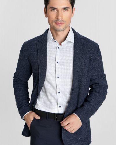 Синий вязаный пиджак на пуговицах Ostin