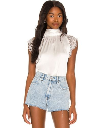 Текстильная белая блузка на шнуровке Generation Love