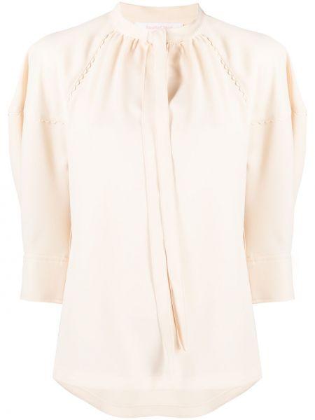 Блузка с воротником с завязками See By Chloé