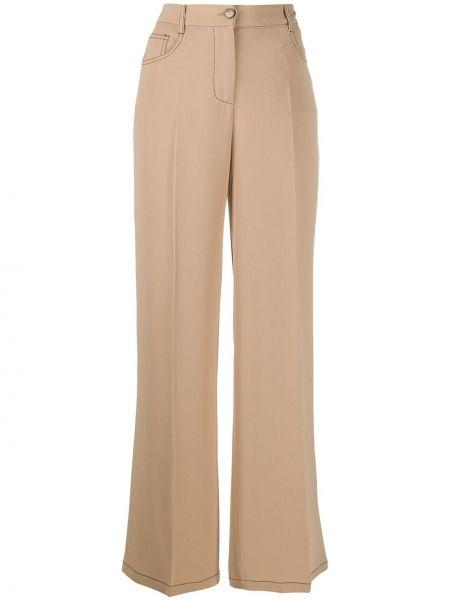 Szerokie spodnie z wysokim stanem z kieszeniami Alberto Biani