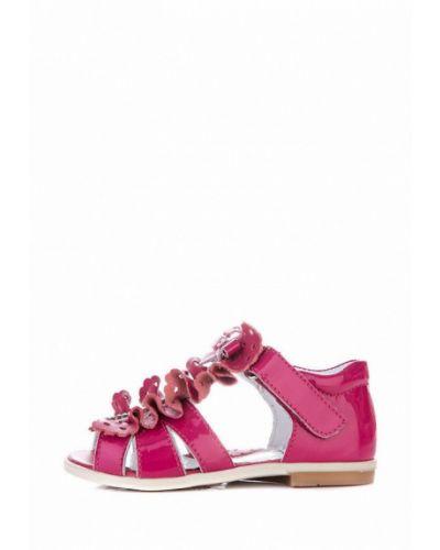 Розовые лаковые кожаные сандалии Miracle Me