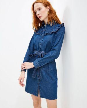 Джинсовое платье осеннее синее Yumi