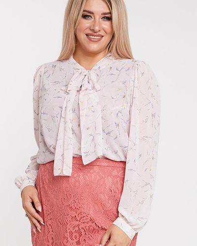 С рукавами шифоновая блузка с воротником Luxury