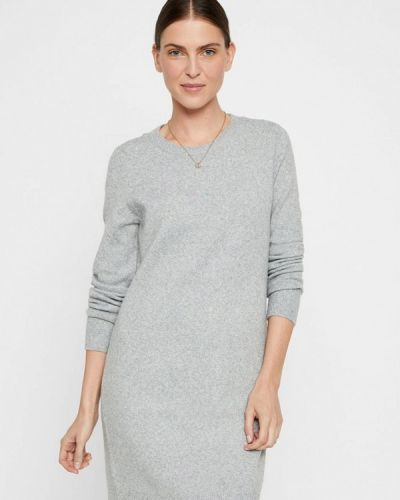 Серое вязаное платье Vero Moda