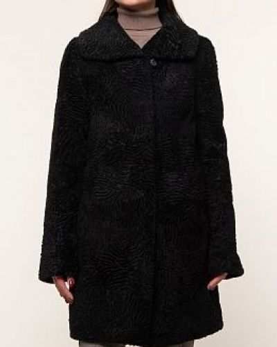 Пальто из овчины - черное Dzhanbekoff