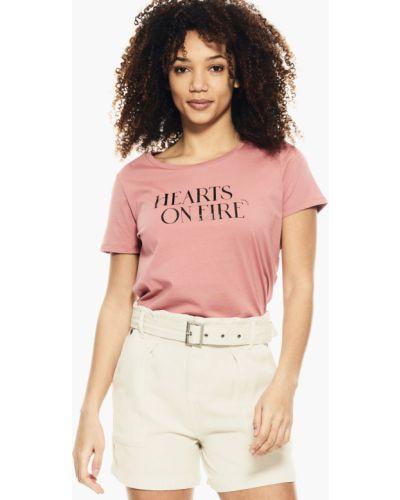 Джинсовая футболка - розовая Garcia Jeans