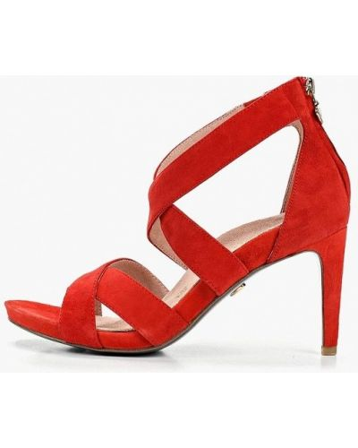 Босоножки на каблуке красный Heart & Sole By Tamaris