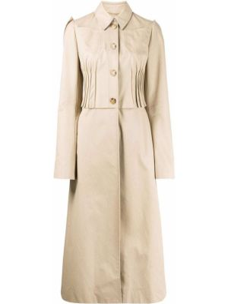 Długi płaszcz klasyczny z kołnierzem Nina Ricci