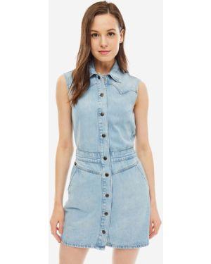 Платье мини джинсовое без рукавов Lee