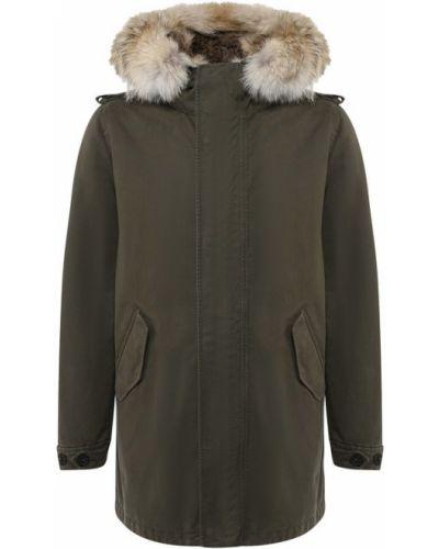 Куртка с капюшоном зеленая с подстежкой Lempelius