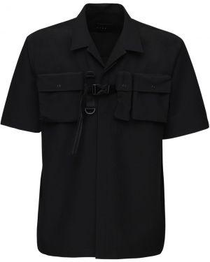 Klasyczna czarna klasyczna koszula krótki rękaw Iise