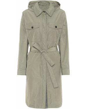 Zielony płaszcz przeciwdeszczowy bawełniany elegancki Brunello Cucinelli