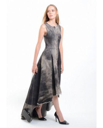 Джинсовое платье - серое Kriza
