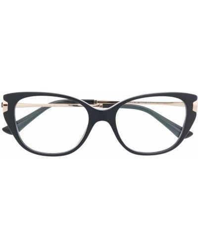 Черные очки кошачий глаз Bvlgari